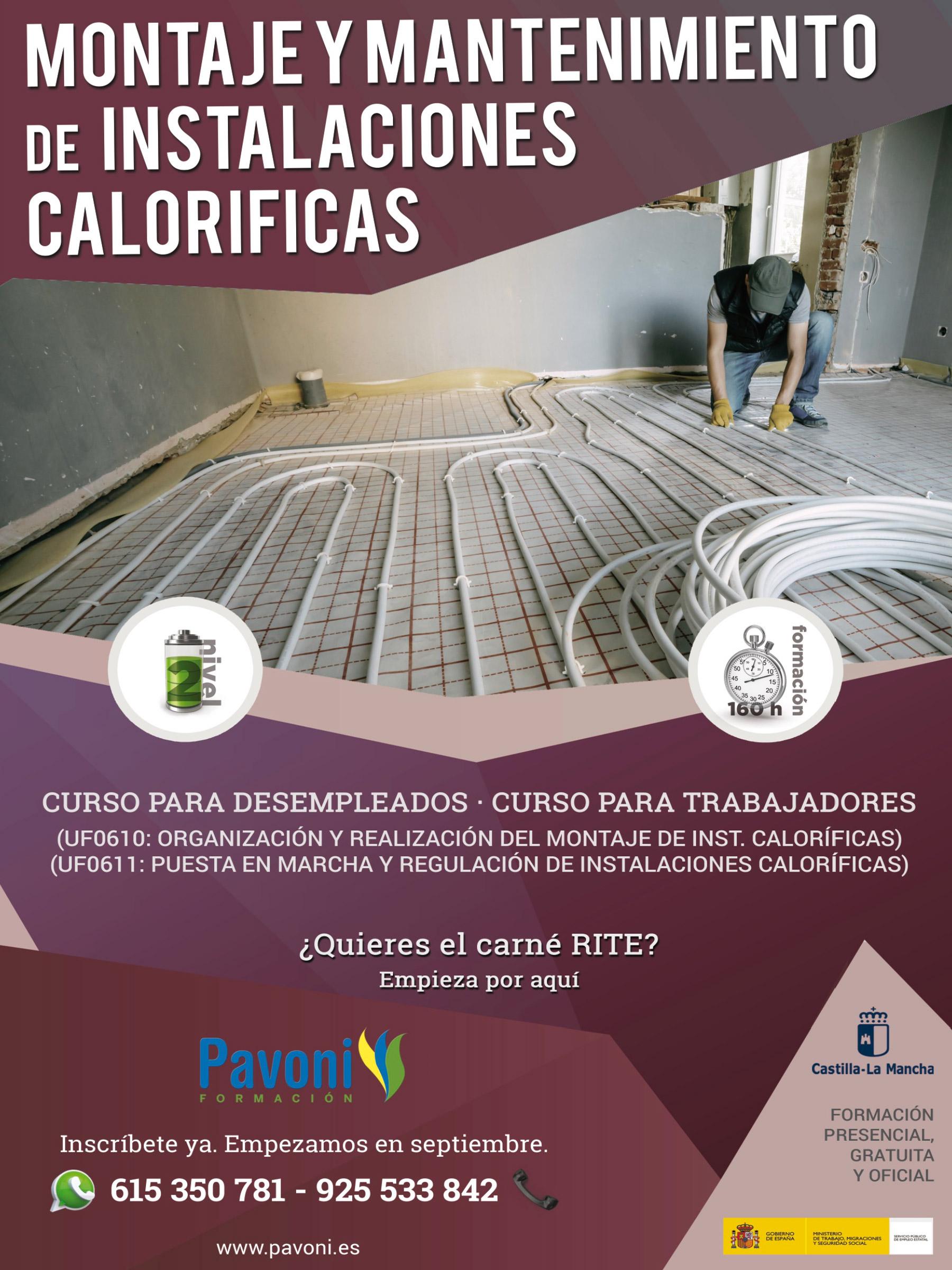 Curso de montaje y mantenimiento de instalaciones caloríficas